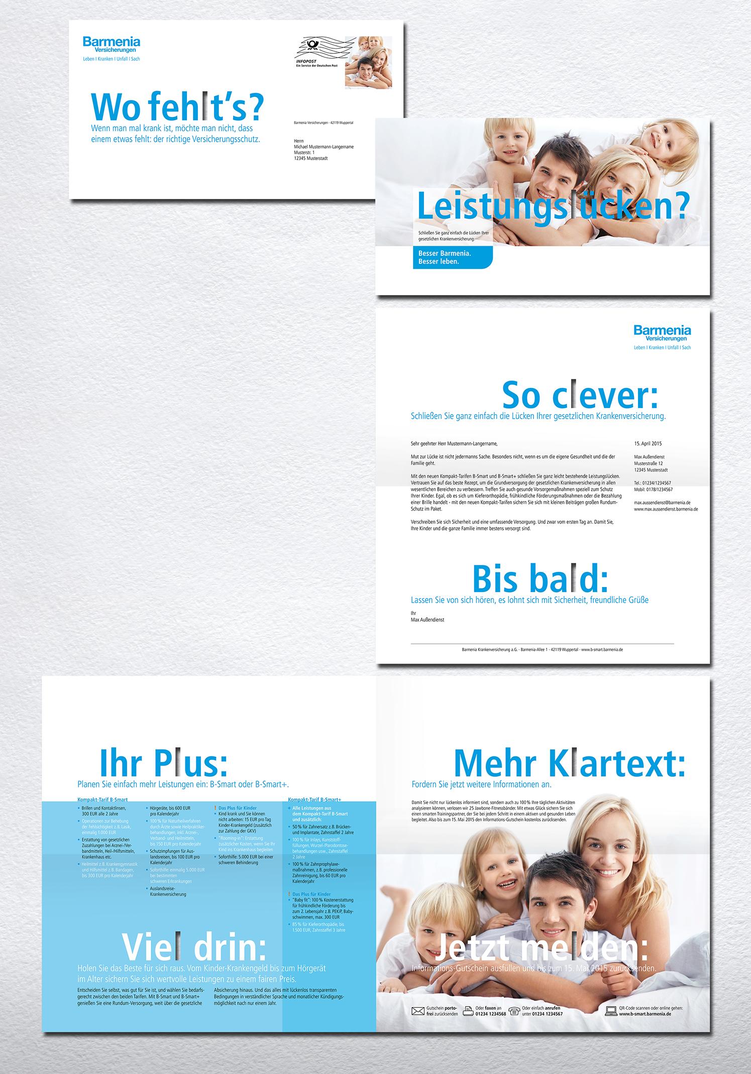 Werbung Barmenia Versicherungen Die Werbtätigen Mailing