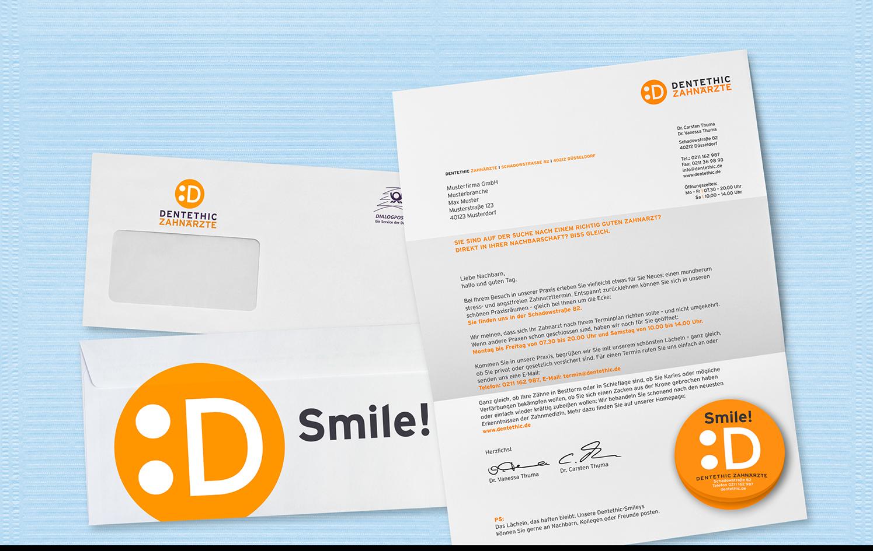 Werbung Dentethic Zahnärzte Die Werbtätigen Plakat