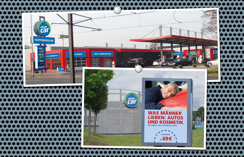 Werbung CleanCar Die Werbtätigen Filiale