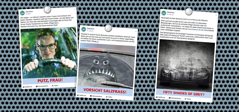 Werbung CleanCar Die Werbtätigen Facebook