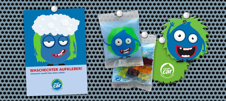 Werbung CleanCar Die Werbtätigen Give-Aways