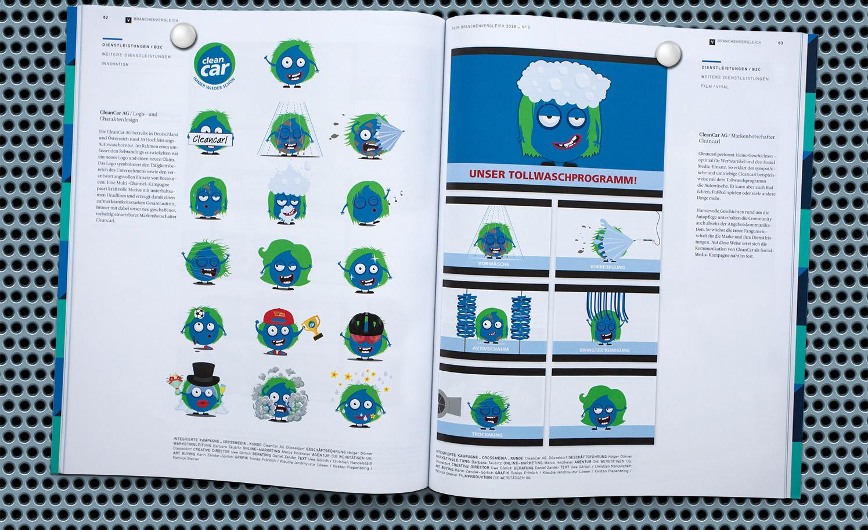 Werbung CleanCar Die Werbtätigen Plakat