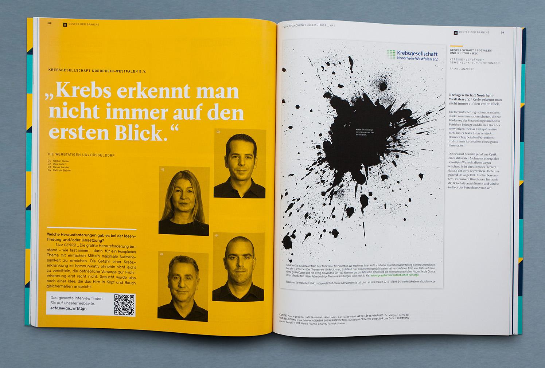 Werbung Krebsgeselschaft NRW Die Werbtätigen Plakat