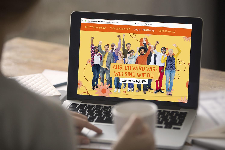 Die Selbsthilfe in NRW Die Werbtätigen ÖPNV Website Werbung
