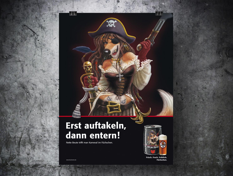 Werbung Brauerei im Füchschen Die Werbtätigen Plakat