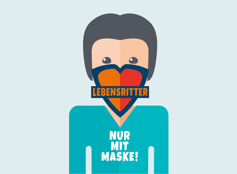 Werbung Lebensritter Netzwerk Organspende NRW Die Werbtätigen Aktion Nur mit Maske