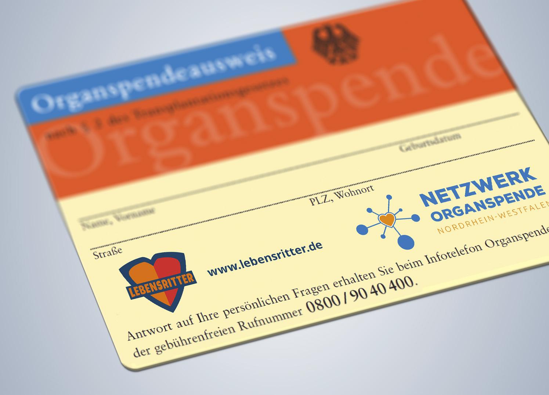 Werbung Lebensritter Netzwerk Organspende NRW Die Werbtätigen Organspendeausweis