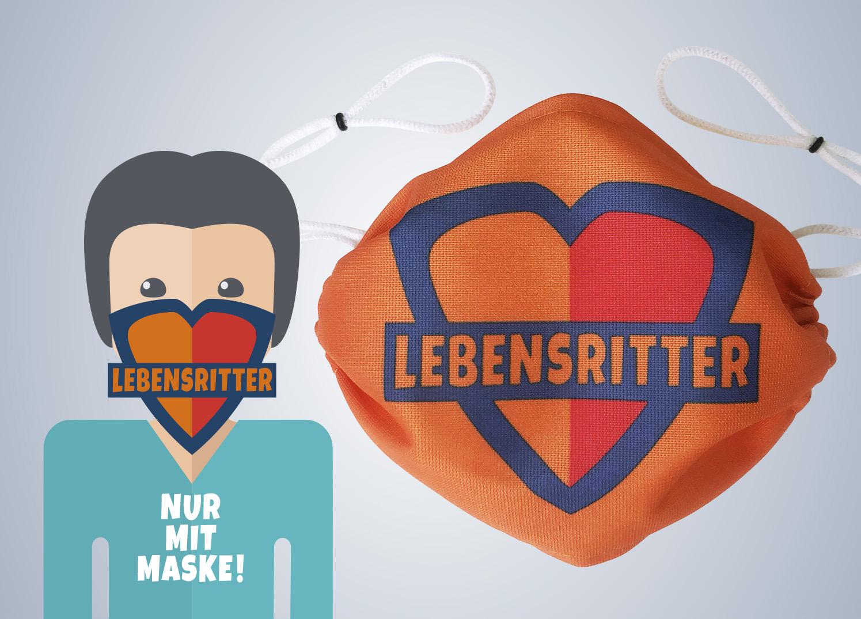 Werbung Lebensritter Netzwerk Organspende NRW Die Werbtätigen Pro bone Aktion Nur mit Maske